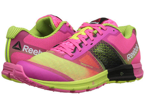 Reebok - One Cushion 2.0 (Solar Pink/Solar Yellow) Women