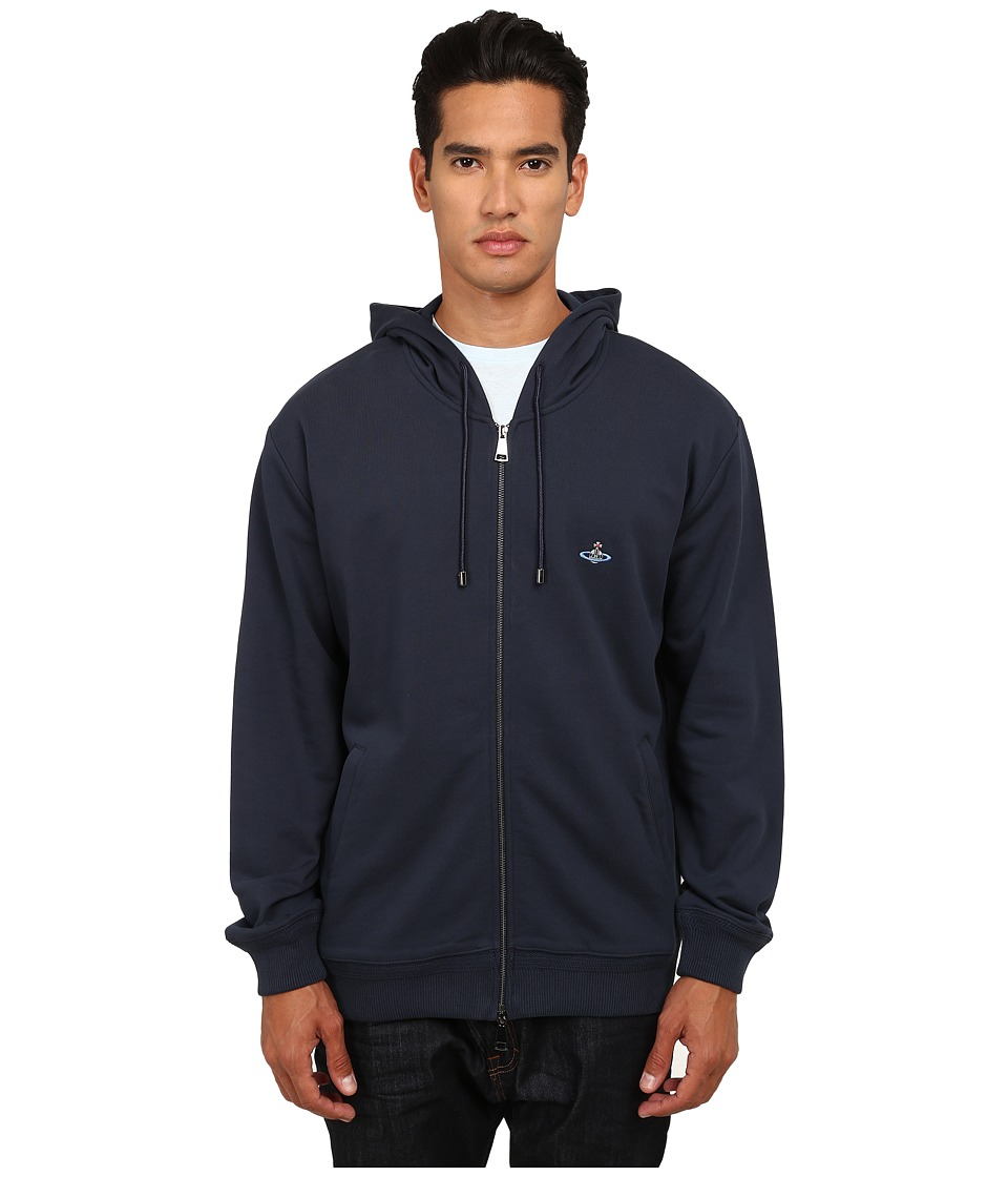 Vivienne Westwood MAN - Classic Zip-Up Hoodie (Navy) Men's Sweatshirt