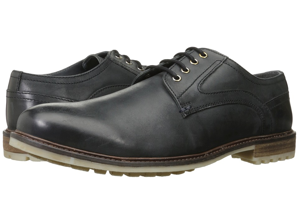 Hush Puppies - Rohan Rigby (Black Leather) Men's Lace up casual Shoes
