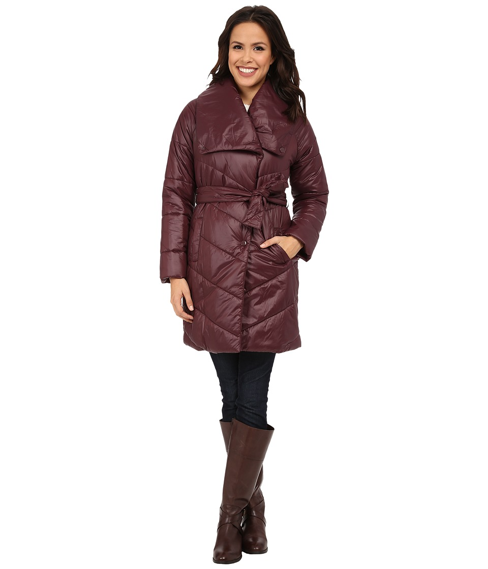 Kenneth Cole New York - Faux Down Coat with Evelope Collar (Concord) Women's Coat
