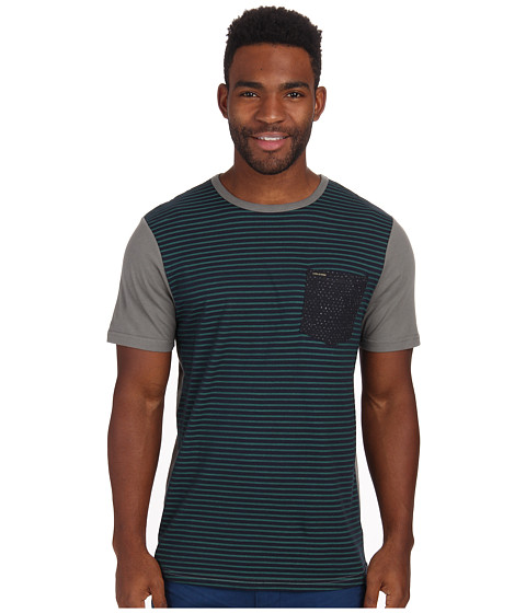 Volcom - Westport Crew (Dark Grey) Men's Short Sleeve Knit