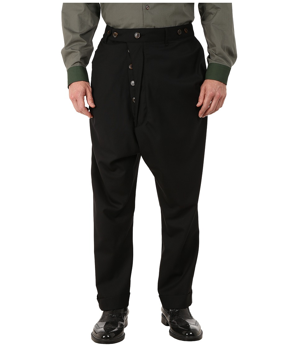Vivienne Westwood - Classic Wool Suiting Alcoholic Trousers (Black) Men's Casual Pants
