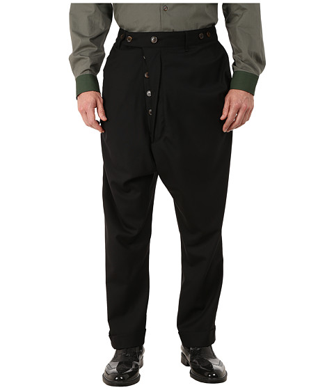 Vivienne Westwood MAN - Classic Wool Suiting Alcoholic Trousers (Black) Men's Casual Pants