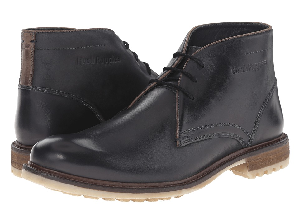 Hush Puppies - Benson Rigby (Black Leather) Men