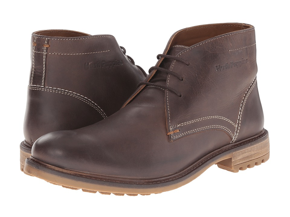 Hush Puppies - Benson Rigby (Dark Brown Leather) Men's Lace up casual Shoes