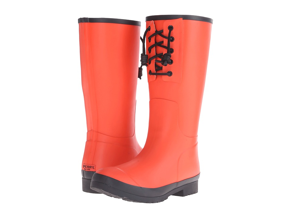 Sperry Top-Sider - Walker Spray (Orange/Black) Women's Rain Boots