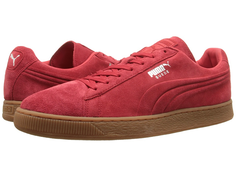 PUMA - The Suede Emboss (High Risk Red/Gum) Men's Shoes