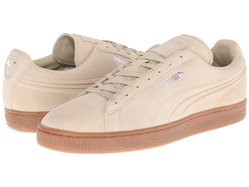 PUMA - The Suede Emboss (Pale Khaki/Gum) Men's Shoes