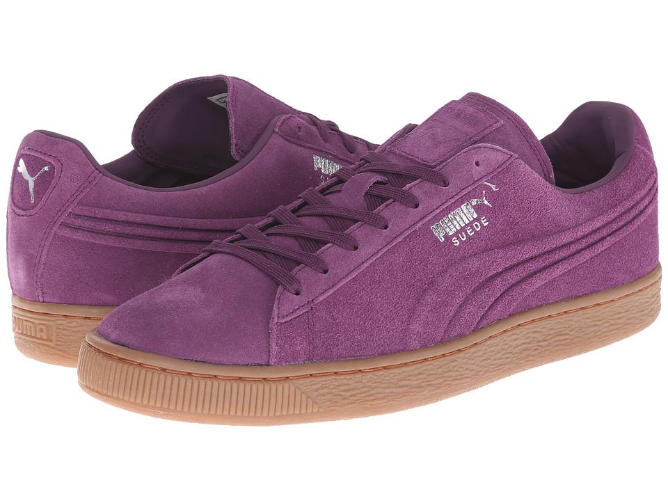 PUMA - The Suede Emboss (Italian Plum/Gum) Men's Shoes