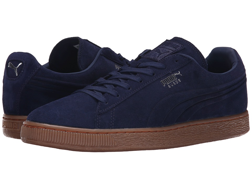 PUMA - The Suede Emboss (Peacoat/Gum) Men's Shoes