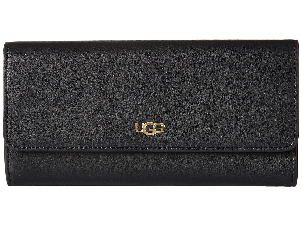 UGG - Rae Slim Wallet (Black) Wallet Handbags