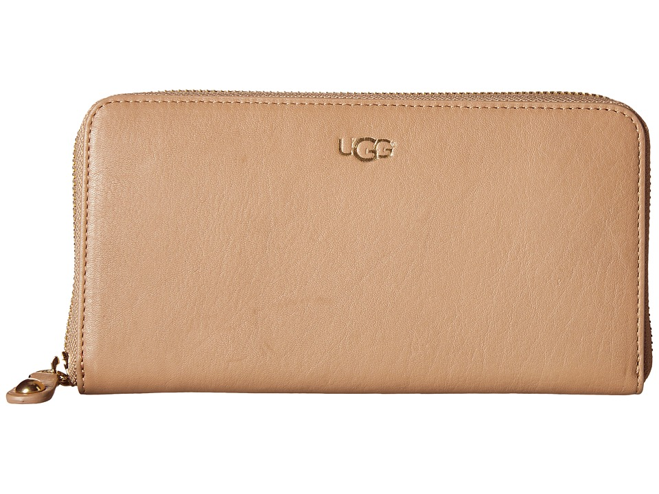 UGG - Rae Zip Around Wallet (Sugar Pine) Wallet Handbags
