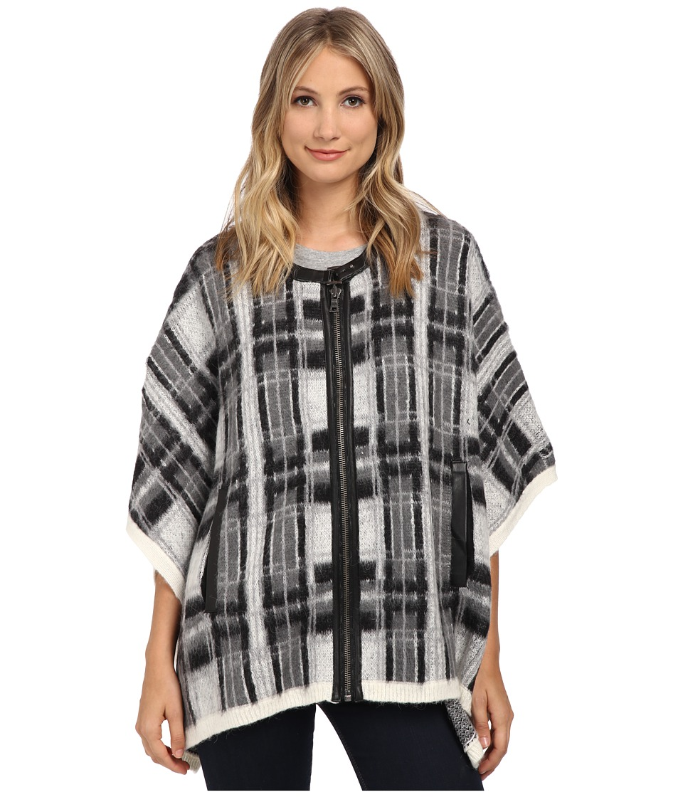 Sam Edelman - Joss Plaid Cape (Cream) Women's Sweater