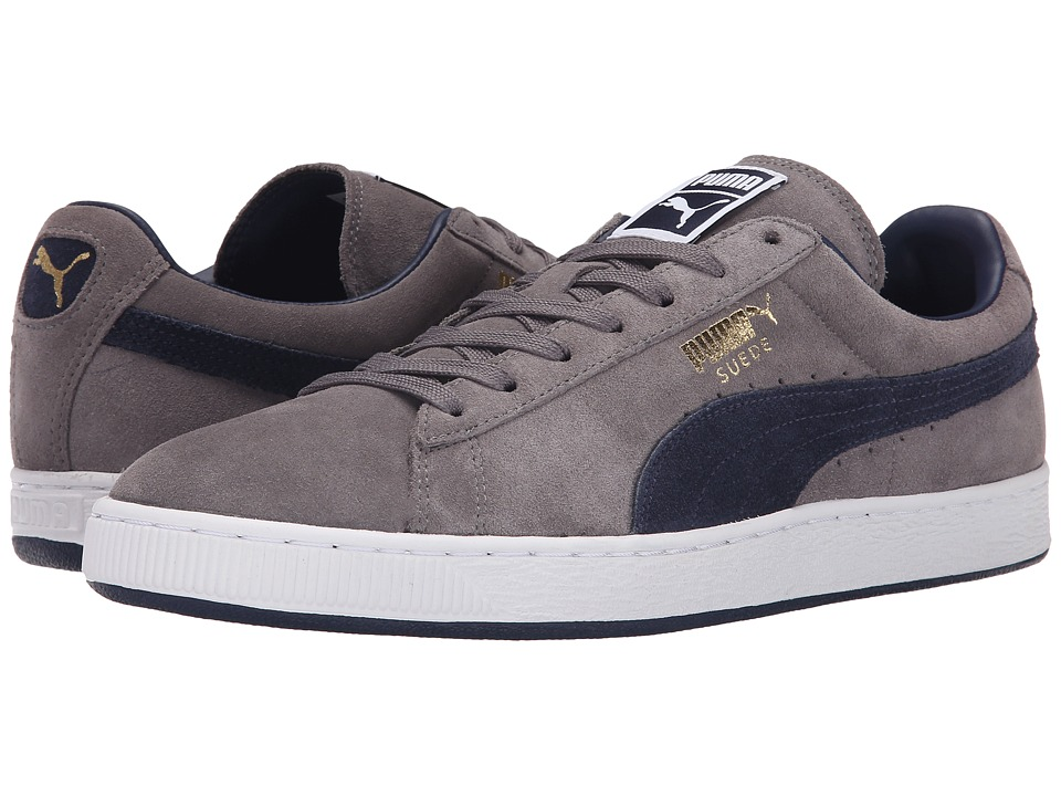 PUMA - The Suede Classic+ (Steel Gray/Peacoat/Peacoat) Men's Shoes