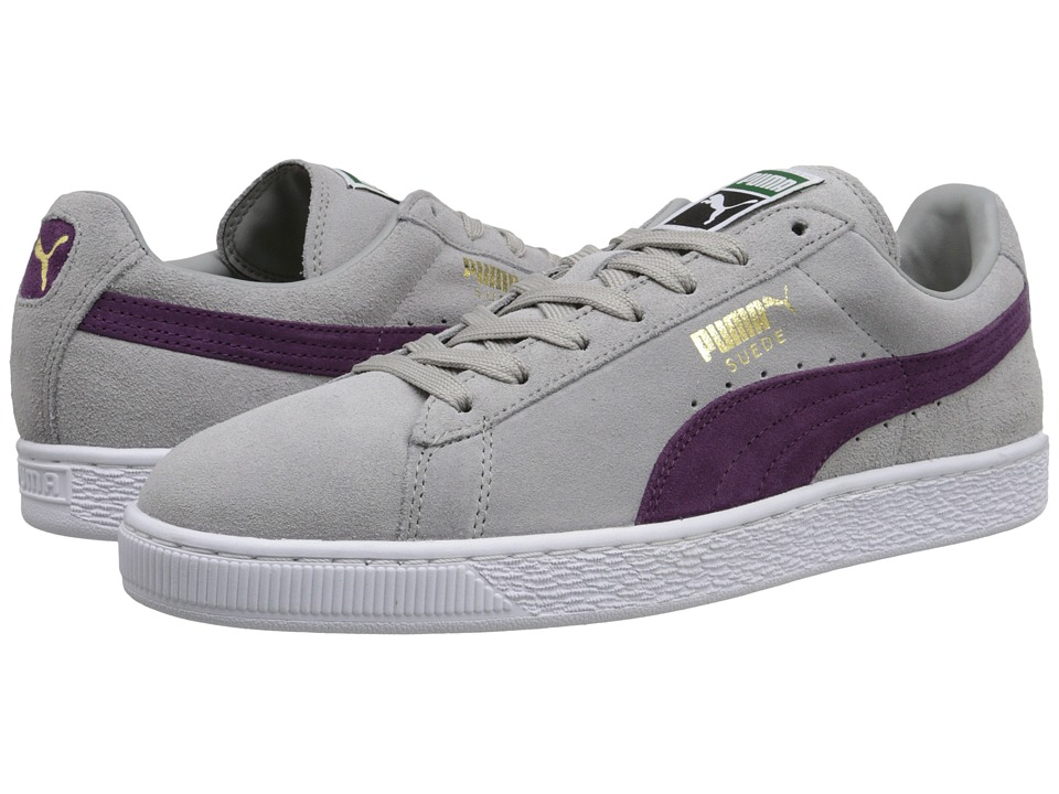 PUMA - The Suede Classic+ (Drizzle/Italian Plum/White) Men's Shoes