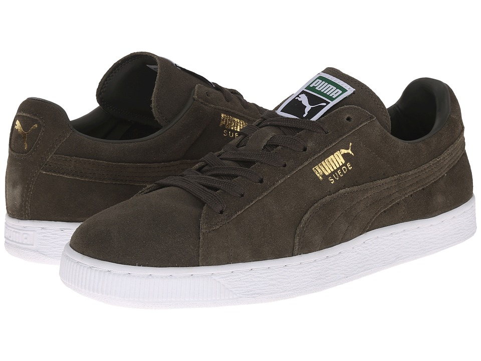 PUMA - The Suede Classic+ (Forest Night/White) Men's Shoes