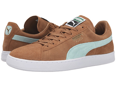 PUMA - The Suede Classic+ (Chipmunk Brown/Fair Aqua/White) Men's Shoes