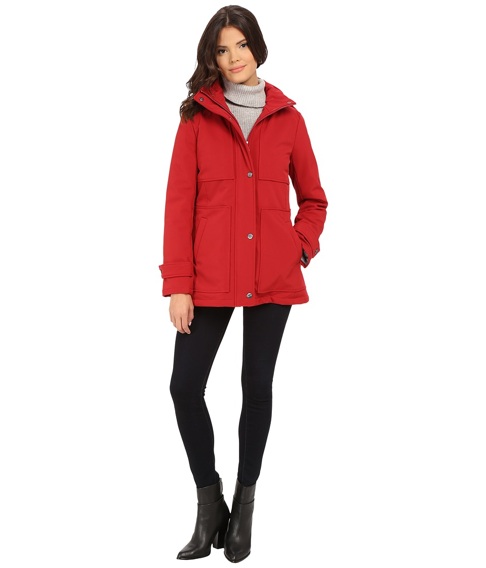 Kenneth Cole New York - Soft Shell with Quilted Lining (Crimson) Women's Coat
