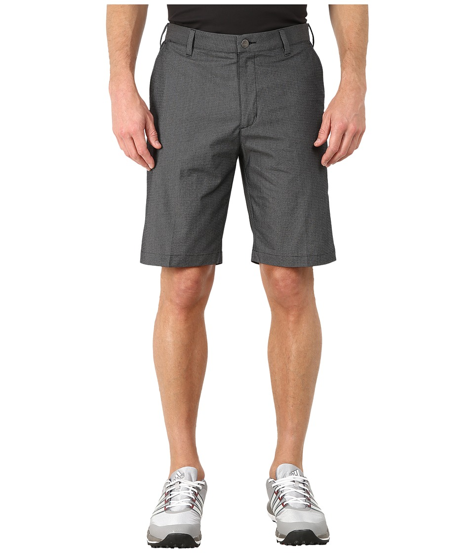 adidas Golf - Stretch Horizontal Texture Stripe Shorts (Black) Men's Shorts