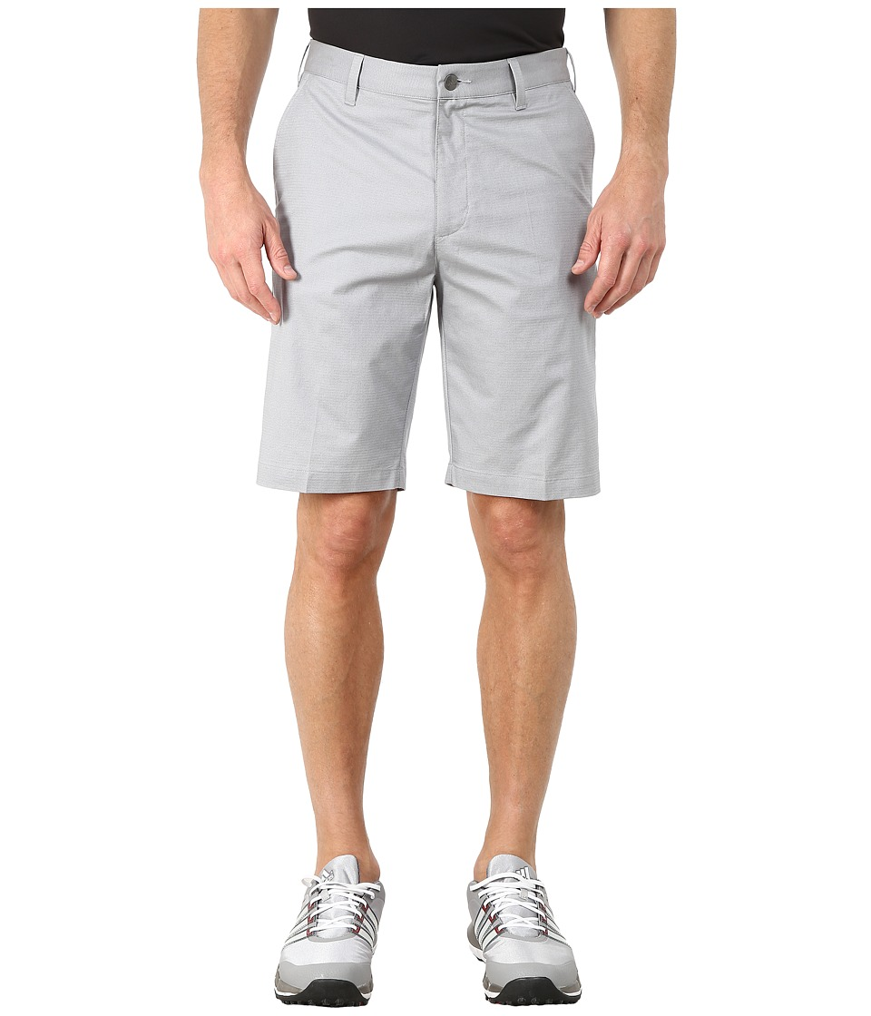 adidas Golf - Stretch Horizontal Texture Stripe Shorts (Mid Grey) Men's Shorts
