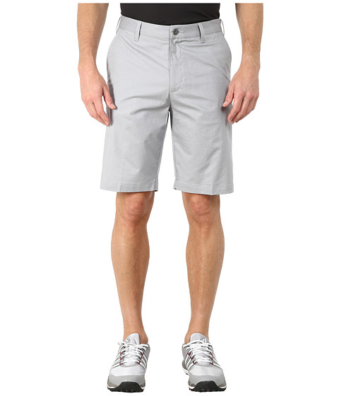 adidas Golf - Stretch Horizontal Texture Stripe Shorts (Mid Grey) Men