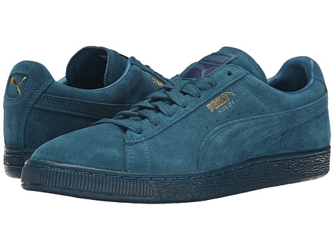 PUMA - The Suede Classic+ Mono Iced (Blue Coral/Team Gold) Men