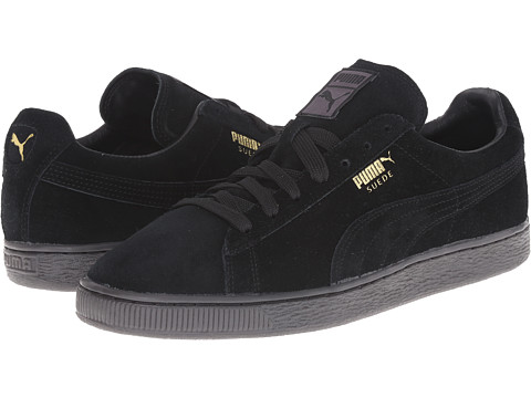 PUMA - The Suede Classic+ Mono Iced (Black/Team Gold) Men's Shoes