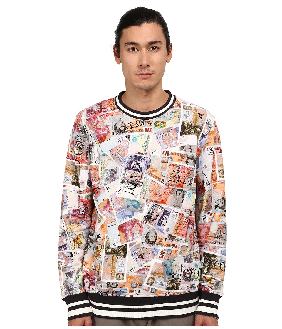 Vivienne Westwood MAN - Money Print Sweatshirt (Multi) Men's Sweatshirt