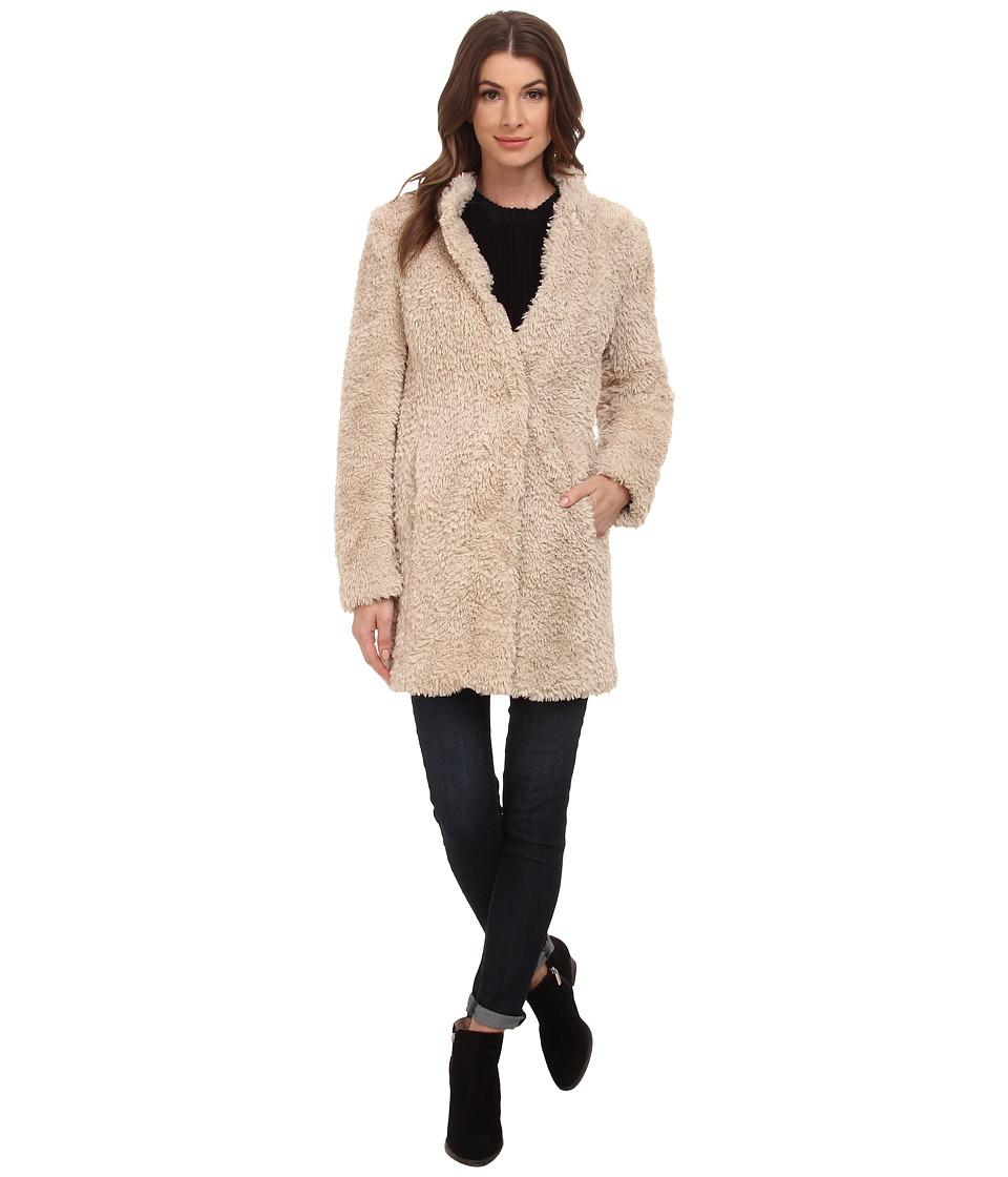 Kenneth Cole New York - Faux Fur Teddy Coat (Ivory) Women's Coat