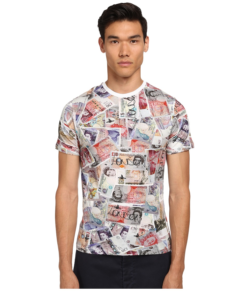 Vivienne Westwood MAN - Money Print T-Shirt (Multi) Men's T Shirt