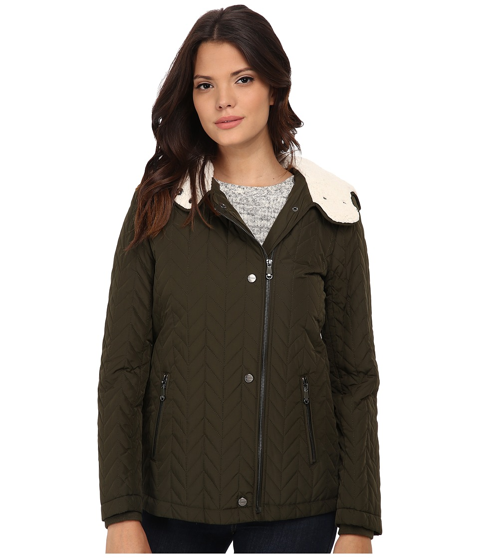 Kenneth Cole New York - Quilted Asymmetrical Jacket (Sage) Women