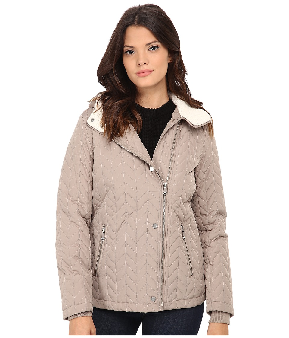 Kenneth Cole New York - Quilted Asymmetrical Jacket (Sand) Women
