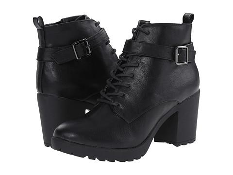 Madden Girl - Alexandr (Black Paris) Women's Lace-up Boots