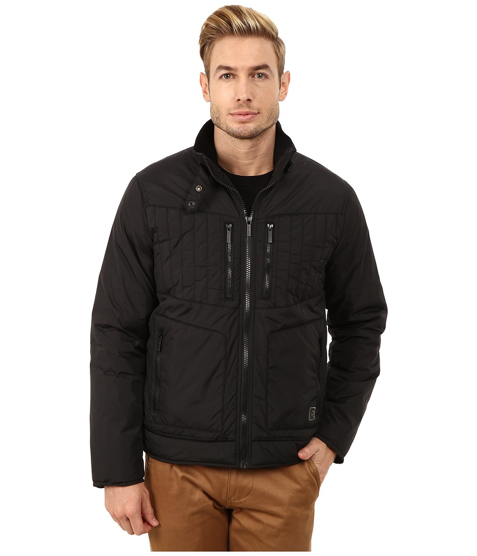 Kenneth Cole Reaction - Polyfill Rider's Jacket (Black) Men's Coat