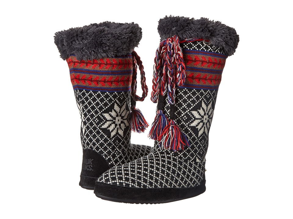 MUK LUKS - Grace (Black) Women's Pull-on Boots