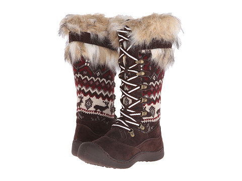 MUK LUKS - Gwen Tall Snow Boot (Dark Brown) Women's Cold Weather Boots