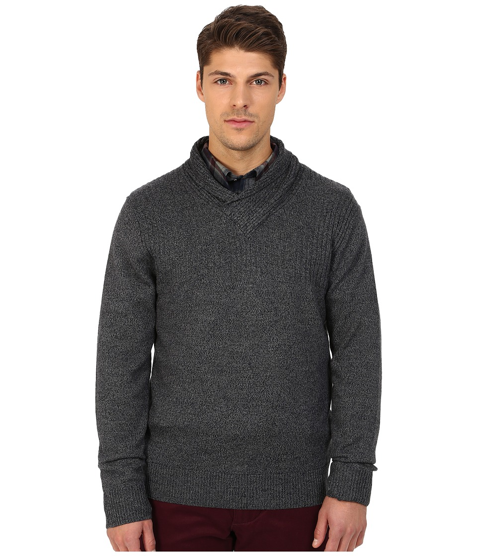Rodd & Gunn - New Clarkes Cowl Neck Heathered Merino Sweater (Graphite) Men's Sweater