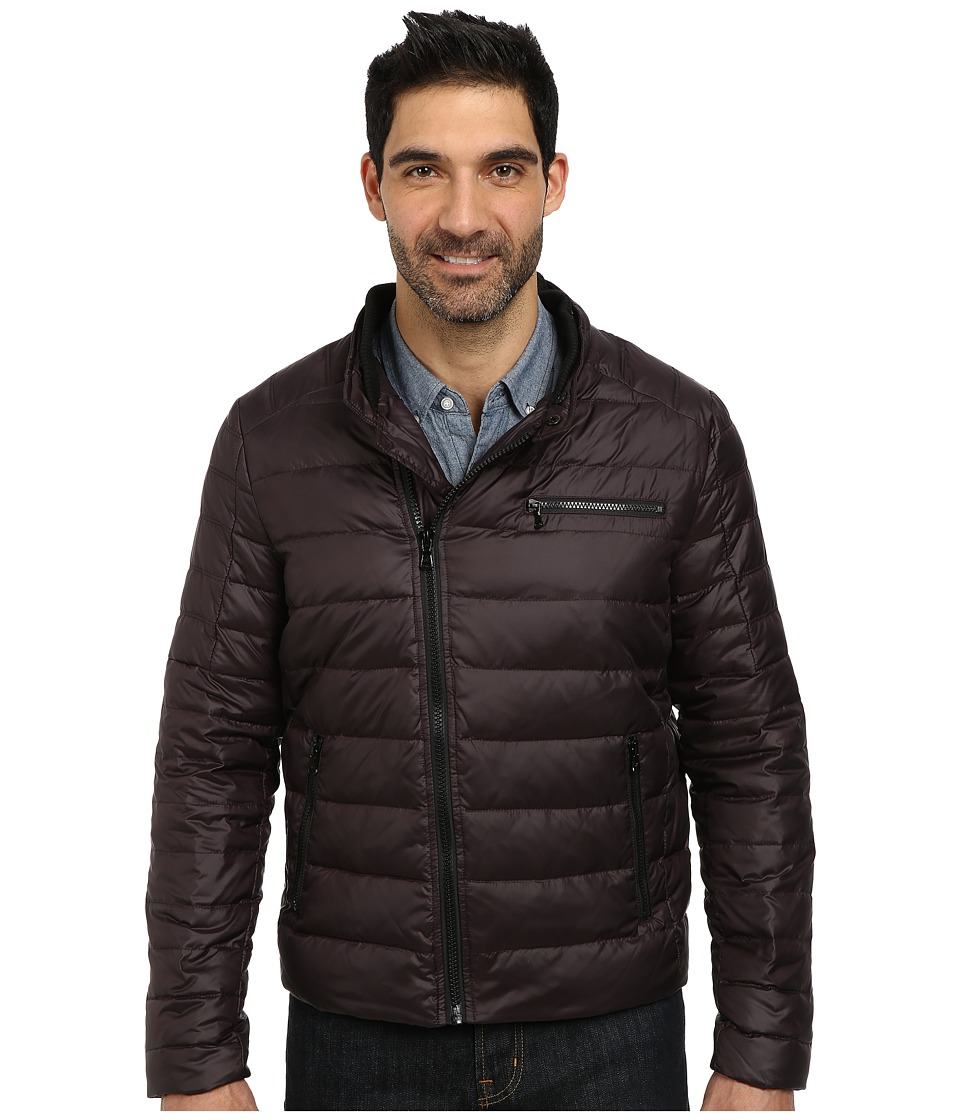 Kenneth Cole New York Zip Front Down Jacket (Mulberry) Men