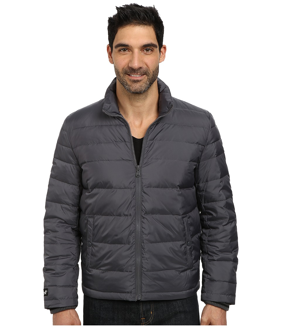 Kenneth Cole New York - Zip Front Down Jacket (Silver) Men's Coat