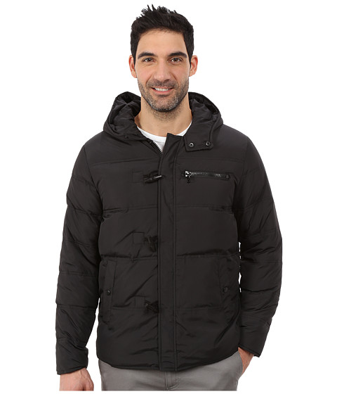 Kenneth Cole New York - Duffle Puffer Jacket (Black) Men's Coat