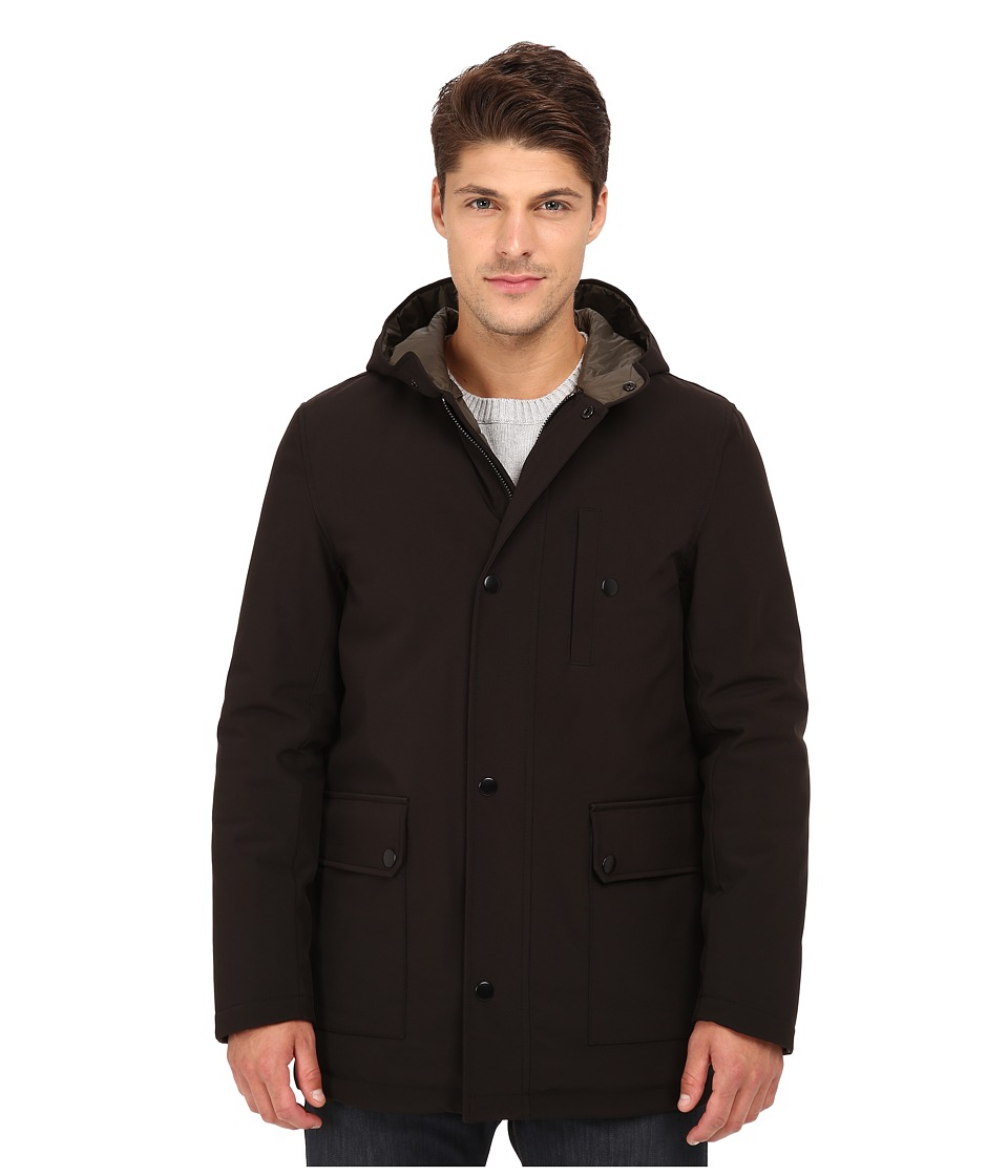 Kenneth Cole New York - Anorak Coat (Black) Men's Coat