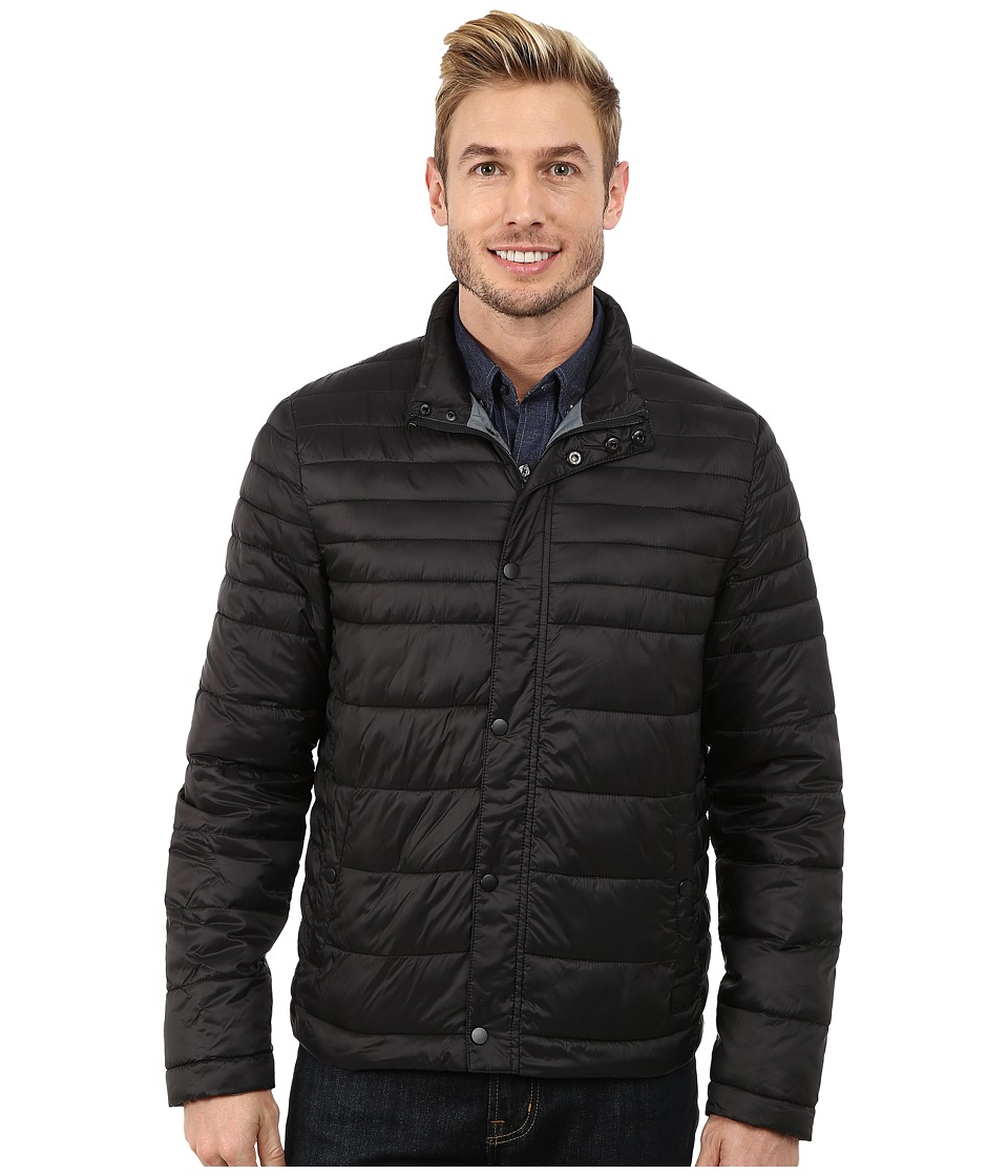 Kenneth Cole New York Quilted Poly Jacket (Black) Men