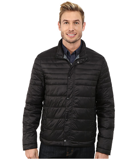 Kenneth Cole New York - Quilted Poly Jacket (Black) Men's Coat