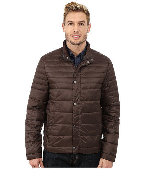 Kenneth Cole New York - Quilted Poly Jacket (Brown) Men