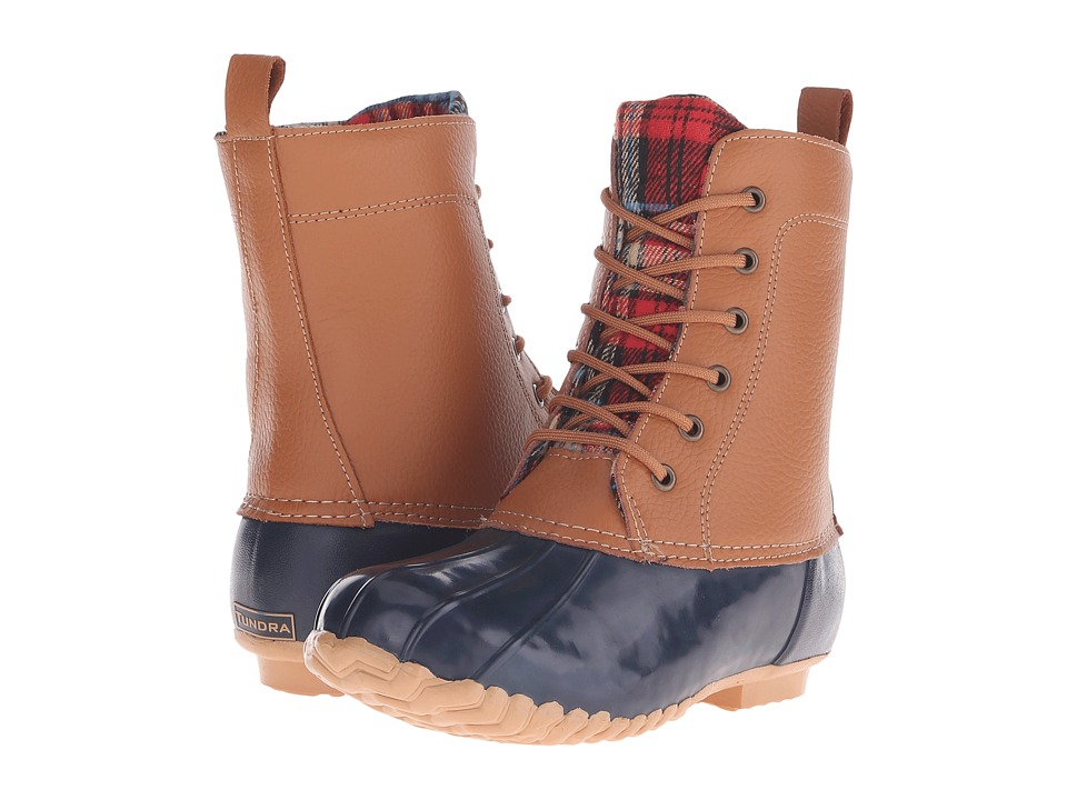 Tundra Boots - Albany (Navy/Tan) Women's Waterproof Boots