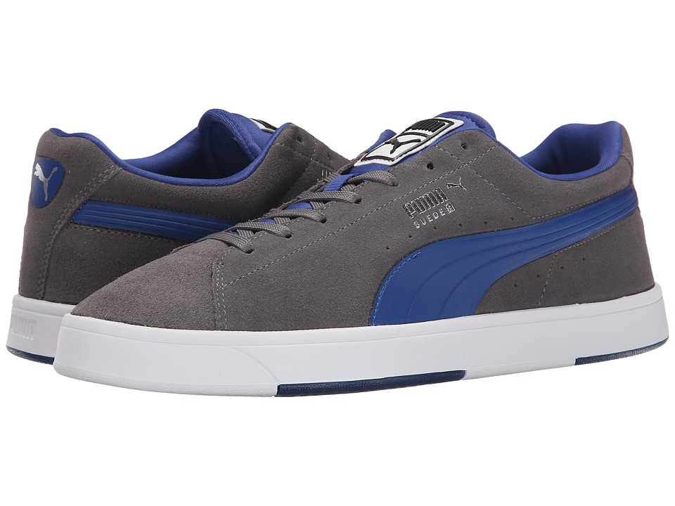 PUMA - The Suede S (Steel Gray/Limoges) Men's Basketball Shoes