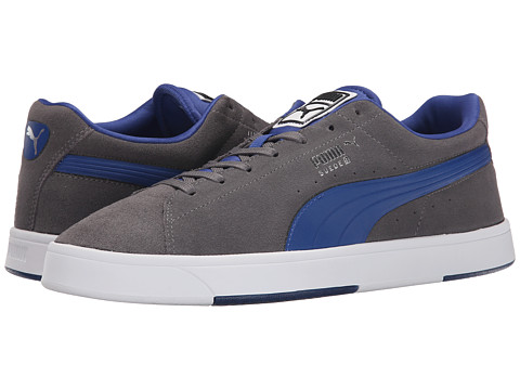 PUMA - The Suede S (Steel Gray/Limoges) Men