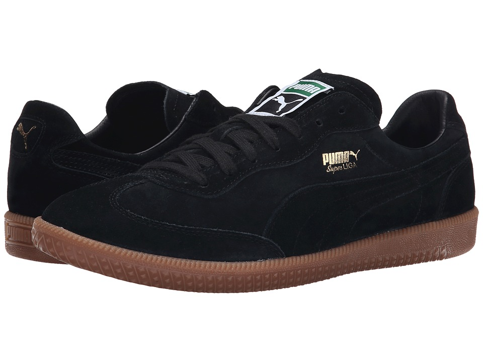 PUMA - Super Liga Modern Heritage (Black/Black/Gum) Men's Shoes