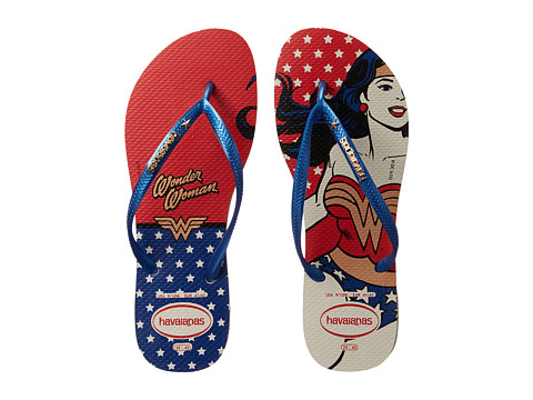 Havaianas - Wonder Woman (White/Marine Blue) Women's Sandals