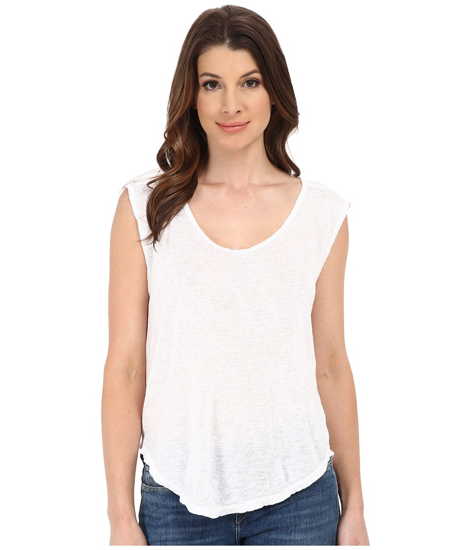Velvet by Graham & Spencer - Geralyn Knit Tank Top (White) Women's Sleeveless